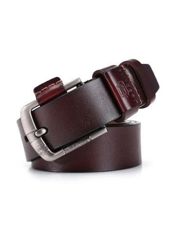 Men PU Leather Belt Retro Wild Casual Pin Buckle Belt - Bychicstyle.com