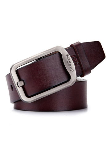 Mens Business Leisure Jeans Pin Buckle Leather Belt - Bychicstyle.com