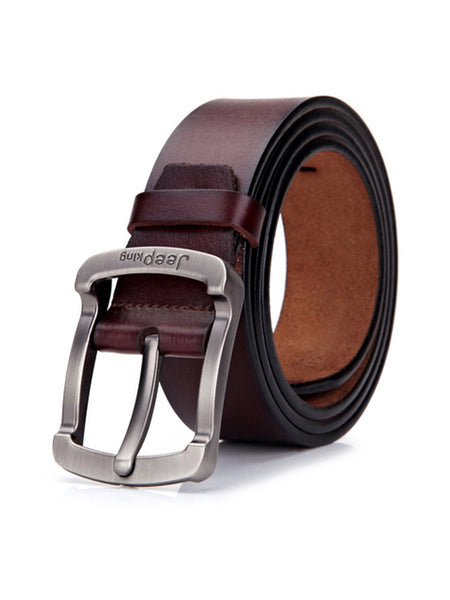Fashion Business Casual Mens Retro PU Leather Pin Buckle Belt - Bychicstyle.com