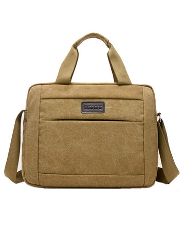 Mens Casual Multifunctional Retro Canvas Crossbody Bag Handbag - Bychicstyle.com