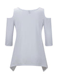 ByChicStyle Off Shoulder Plain Basic T-Shirt - Bychicstyle.com