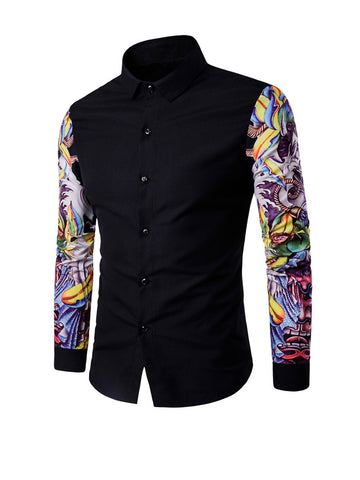 Trendy Graffiti Printed Men Shirt - Bychicstyle.com