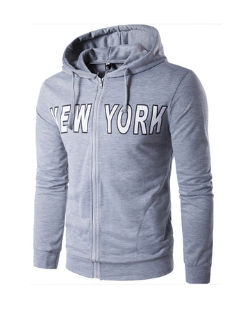 Classic Letters Printed Pocket Men Hoodie - Bychicstyle.com