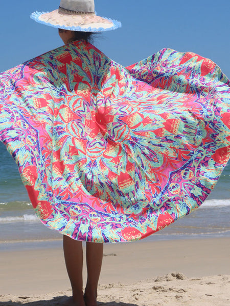 Painting Style Beach Shawl Beach Blanket - Bychicstyle.com