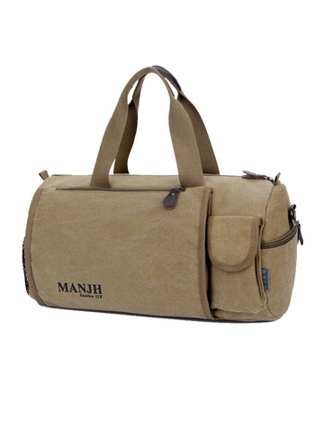 Casual Dual-Use Men's Canvas Hiking Camping Handbag