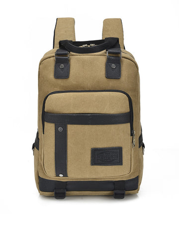 Canvas Men's Backpack With Internal Laptop Pouch - Bychicstyle.com