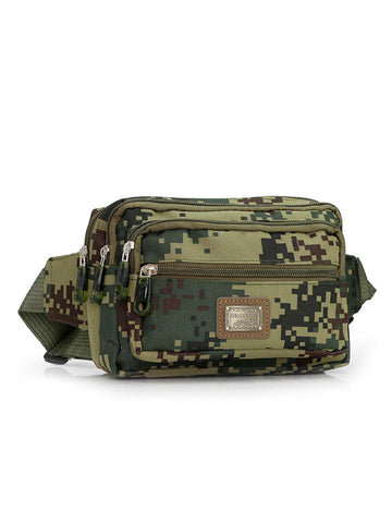 Men Camouflage Casual Outdoor Sport Waist Bag - Bychicstyle.com