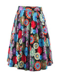 ByChicStyle Colorful Printed Flared Midi Skirt - Bychicstyle.com