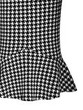 ByChicStyle Houndstooth Mermaid Midi Skirt - Bychicstyle.com