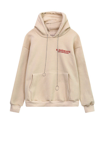 Kangaroo Pocket Chain Letters Hoodie - Bychicstyle.com