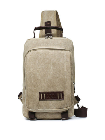 Canvas Travel One Shoulder Backpack - Bychicstyle.com