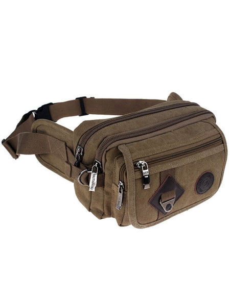 Men Canvas Casual Outdoor Sport Waist Bag - Bychicstyle.com