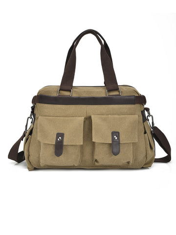 Men Canvas Outdoor Casual Shoulder Crossbody Bag - Bychicstyle.com