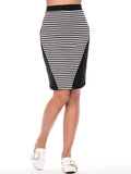 ByChicStyle Trendy Letters Sleeveless T-Shirt And Striped Pencil Skirt - Bychicstyle.com