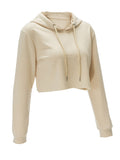 ByChicStyle Exposed Navel Drawstring Solid Hoodie - Bychicstyle.com