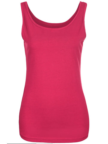 Casual Basic Round Neck Solid Sleeveless T-Shirt
