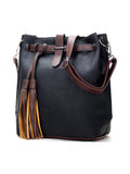 ByChicStyle Color Block Long Tassel Shoulder Bag - Bychicstyle.com