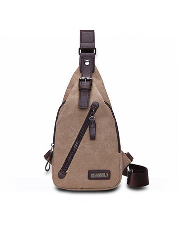 Men Canvas Outdoor Cycling Sport Chest Crossbody Bag - Bychicstyle.com
