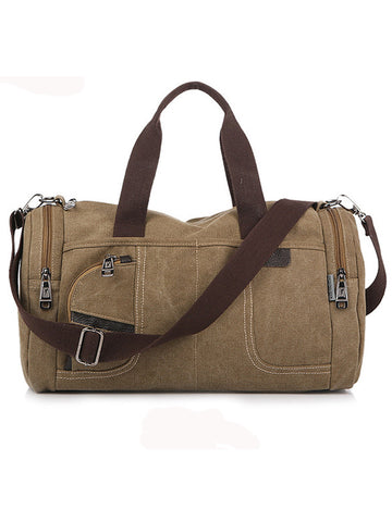 Casual Dual-Use Men's Canvas Camping Crossbody Handbag