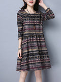 ByChicStyle Round Neck Striped Extraordinary Skater Dress - Bychicstyle.com
