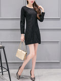ByChicStyle Casual Elegant Solid Round Neck Bodycon Dress