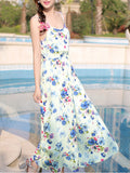 ByChicStyle Spaghetti Strap Courtly Floral Printed Maxi Dress - Bychicstyle.com