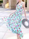ByChicStyle Spaghetti Strap Glamorous Printed Blend Maxi Dress - Bychicstyle.com