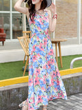 ByChicStyle Spaghetti Strap Floral Printed Extraordinary Maxi Dress - Bychicstyle.com