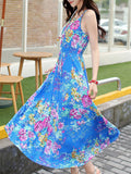 ByChicStyle Spaghetti Strap Floral Printed Fabulous Maxi Dress - Bychicstyle.com