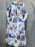 ByChicStyle Casual Abstract Print Cotton Maxi Dress