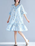ByChicStyle Sweet Heart Flounce Printed Bell Sleeve Shift Dress - Bychicstyle.com
