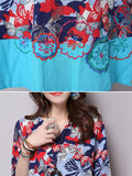 ByChicStyle Patchwork Embroidery Floral Cotton Shift Dress - Bychicstyle.com