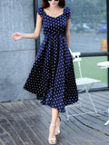 ByChicStyle Sweet Heart Polka Dot Swing Maxi Dress - Bychicstyle.com