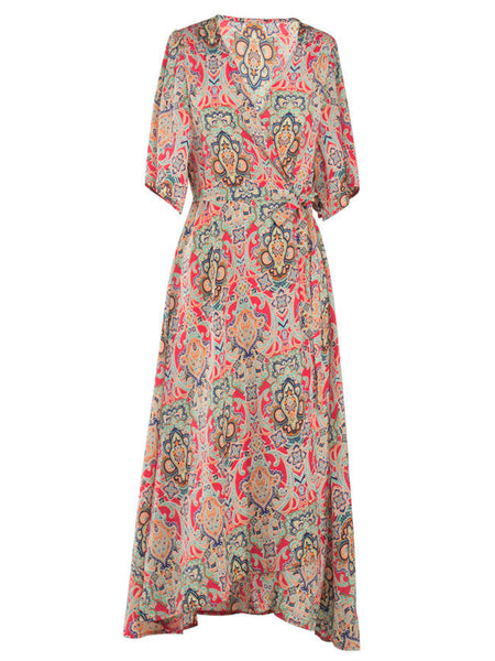 Casual V-Neck Printed Awesome Maxi Dress