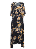 ByChicStyle Casual V-Neck Printed Awesome Maxi Dress