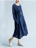 Streetstyle  Casual Asymmetric Hem Patch Pocket Ruffle Trim Plain Maxi Dress