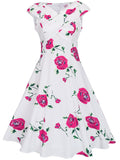 ByChicStyle Casual Remarkable V-Neck Floral Printed Skater Dress