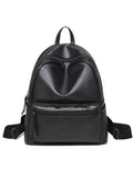 Streetstyle  Casual Basic Pu Big Capacity Backpack