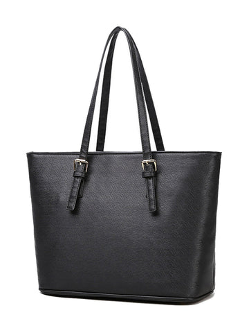 Casual Basic Big Capacity Plain Shoulder Bag