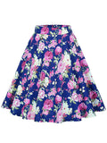 ByChicStyle Delightful Floral Printed Flared Midi Skirt - Bychicstyle.com