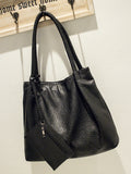 Streetstyle  Casual Basic Pu Big Capacity Shoulder Bag