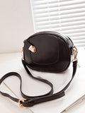 Streetstyle  Casual Asymmetric Design Pu Crossbody Bag