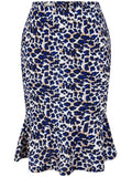ByChicStyle Leopard Mermaid Midi Skirt - Bychicstyle.com