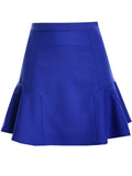 Casual Basic Flounce-Hem Plain A-Line Mini Skirt