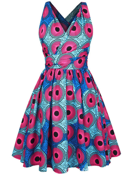 Special Multi-Way Printed Skater Dress - Bychicstyle.com