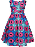 ByChicStyle Special Multi-Way Printed Skater Dress - Bychicstyle.com