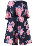 ByChicStyle Strapless Flounce Floral Printed Romper - Bychicstyle.com