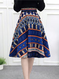ByChicStyle Fantastic Printed Flared Midi Skirt - Bychicstyle.com