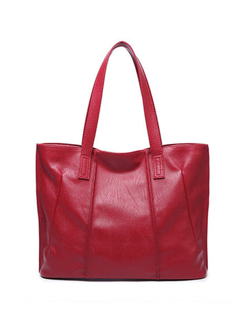 Casual Big Capacity Basic Shoulder Bag