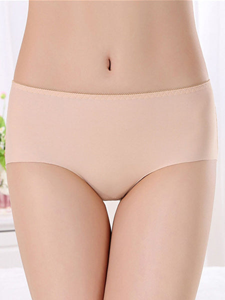 Streetstyle  Casual Basic Seamless Elastic Plain Underpant